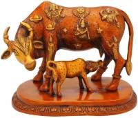 StatueStudio Cow N Calf Red Showpiece  -  17.78 cm(Brass, Red)