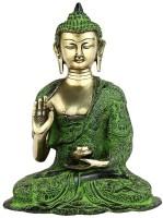 StatueStudio Buddha Showpiece  -  27.94 cm(Brass, Multicolor)