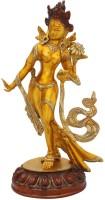 StatueStudio Standing Tara Showpiece Golden Yellow Showpiece  -  38.1 cm(Brass, Multicolor)