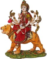 Art N Hub Goddess Durga Devi / Maa Sherawali Idol - Navratri Pooja Statue Showpiece  -  21 cm(Earthenware, Multicolor)
