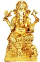 Aakrati Decorative Lord Ganesha ware Statue Showpiece  -  24 cm(Brass, Yellow)