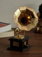 eCraftIndia Antique Music Decorative Canon Decorative Showpiece  -  24 cm(Brass, Red, Brown)
