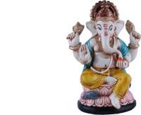 The Nodding Head Lotus Ganesha (Yelllow) Decorative Showpiece  -  13 cm(Polyresin, Multicolor)