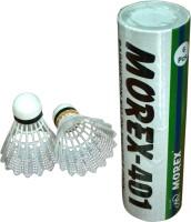 Morex 401 Nylon Shuttle  - White(Medium, 77, Pack of 6)