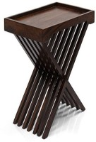 View Ringabell Tray Style Folding Solid Wood End Table(Finish Color - Mahogany) Furniture (Ringabell)
