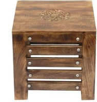 View Acme Production A53 Solid Wood Side Table(Finish Color - Walnut Brown) Furniture (Acme Production)
