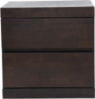 View HomeTown Fabian Night Stand Solid Wood Bedside Table(Finish Color - Wenge) Furniture (HomeTown)