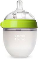 Comotomo Natural Feel Baby Bottle - Single Pack Green 5 oz(Green)