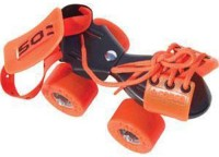 Cosco Zoomer Sr. (19.5 - 26.5 cm) Age Group (8+ Years) Quad Roller Skates - Size Kids 12 - Adults 8 UK(Black, Red)