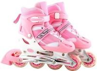 Inline Adjustable Skate In-line Skates - Size 6-8 UK(Pink)
