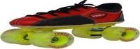 Jonex Professional Quad Roller Skates - Size 2.5 UK(Black, Red)