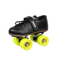 JJ Jonex CLASSIC GOLD SHOES Quad Roller Skates - Size 2 UK(Black)