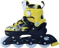 Smart Pro 1161 Yellow Medium In-line Skates - Size 13-2.5 UK(Yellow)