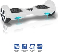 Kiiwi Electric Hands Free 2 Wheels Self Balancing Scooter White Quad Roller Skates - Size 6-12 UK(White)