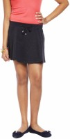 Abstract Mood Solid Girls Regular Black Skirt