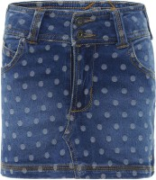 FS Mini Klub Printed Girls A-line Blue Skirt