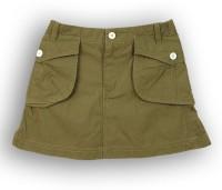 Lilliput Solid Girls A-line Dark Green Skirt