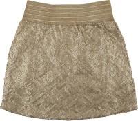 Hunny Bunny Embellished Girls Tube Gold Skirt