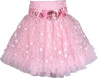 Cutecumber Embellished Girls A-line Purple Skirt
