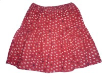 Eves Pret A Porter Printed Girls Gathered Red Skirt