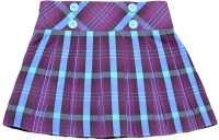 Caca Cina Checkered Girls Pleated Multicolor Skirt
