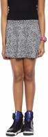 Abstract Mood Animal Print Girls Regular Grey Skirt