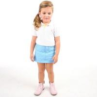Cherry Crumble California Argyle Girls A-line Light Blue Skirt