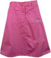 SSMITN Solid Girls Straight Pink Skirt