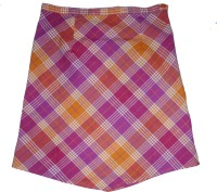 Eves Pret A Porter Checkered Girls A-line Multicolor Skirt
