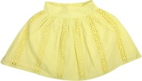 Apricot Kids Solid Girls Regular Yellow Skirt