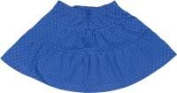 Elle Kids Printed Girls A-line Blue Skirt