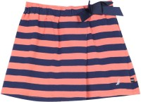 Nautica Striped Girls A-line Blue, Pink Skirt