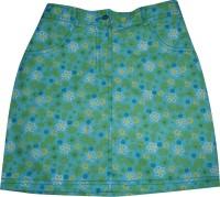 Eves Pret A Porter Floral Print Girls A-line Blue Skirt