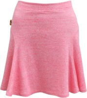 Abstract Mood Solid Girls A-line Pink Skirt