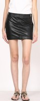 Aditi Wasan Solid Women's Straight Black Skirt