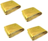 Enem Emergency Mylar Thermal Blankets Heavy Duty 160X210cm for Safety & Survival-Camping, Outdoor Sports, Hiking , Travel- Pack of 04 Sleeping Bag(Gold)