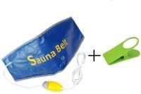 Sauna Belt Slim Waist Tummy Trimmer Hot Shaper Cruncher Protector Vibro Slimmer Heating With Clip Holder Slimming Belt(Blue) - Price 399 80 % Off