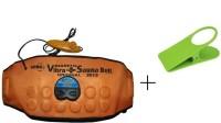 IBS 3 In 1 Sauna Waist Tummy Trimmer Hot Shaper Cruncher Protector Vibro Slimmer With Clip Holder Vibrating Magnetic Slimming Belt(Orange)