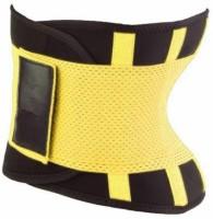 Hotshapers POWER Fat Burner Women Unisex Waist Neoprene Strechable Tummy Trimmer Tucker Slimming Belt(Black, Yellow) - Price 640 83 % Off