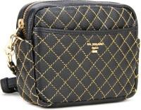 Da Milano Women Black, Gold Sling Bag
