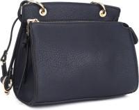 AND Women Blue PU Sling Bag