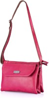 Be Trendy Girls Casual Pink PU Sling Bag
