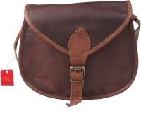 Pranjals House Women Brown Genuine Leather Shoulder Bag