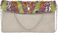 Anekaant Women Pink, Multicolor Cotton Clutch