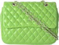 Dezerae Women Green Genuine Leather Sling Bag