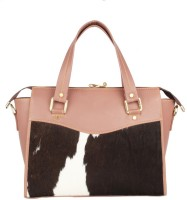pingooz Women Pink, Black Genuine Leather Tote