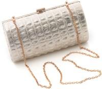 Foolzy Women White Leatherette Sling Bag