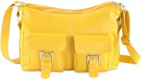 Goodwill LEATHER ART Yellow Sling Bag