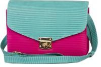 Rysha Women Green, Pink PU Sling Bag