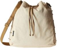 Creative India Exports Women Beige Canvas Sling Bag